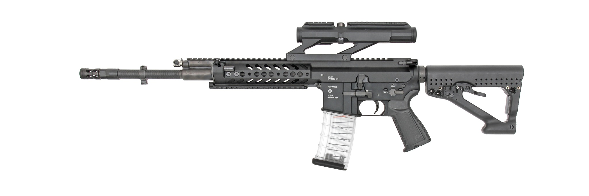 Rheinmetall and Steyr Mannlicher have developed a new RS556 automatic rifle 87
